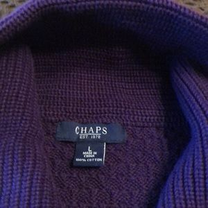 Chaps elbow sleeve sweater